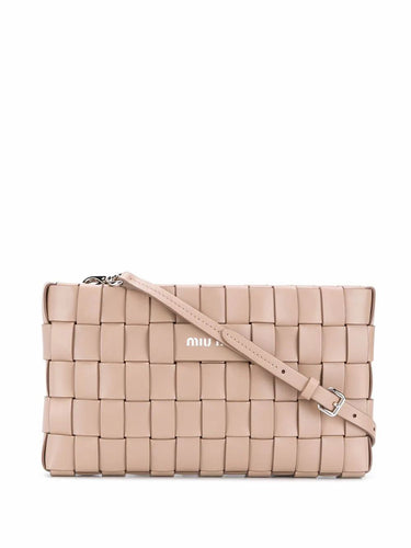 MIU MIU logo plaque embossed crossbody bag