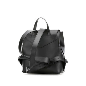 EMPORIO ARMANI logo clasp leather backpack
