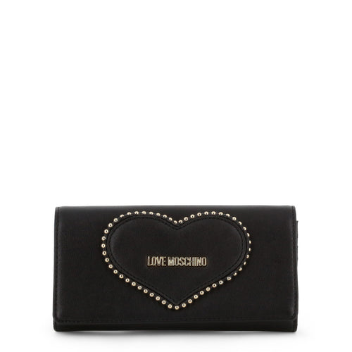 Love Moschino heart logo wallet on chain clutch