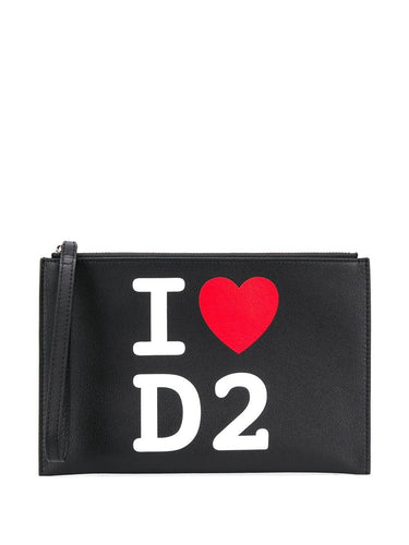 DSQUARED2 I heart D2 clutch
