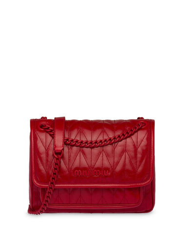 MIU MIU logo plaque quilted crossbody bag