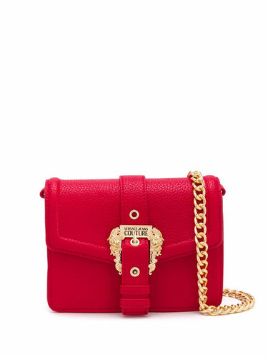 VERSACE JEANS COUTURE logo buckle crossbody bag