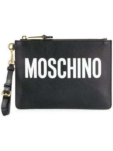 MOSCHINO Statement logo clutch