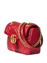 Load image into Gallery viewer, GUCCI GG Marmont small leather matelassé shoulder bag