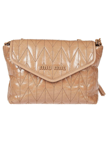 MIU MIU Envelope style Matelasse shoulder bag
