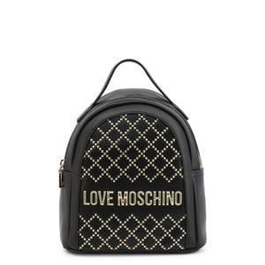 Love Moschino studded logo plaque backpack
