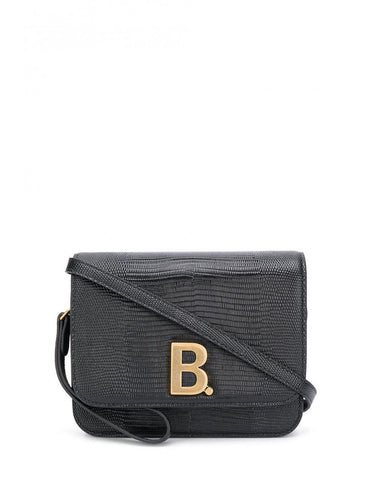 BALENCIAGA logo plaque crossbody bag