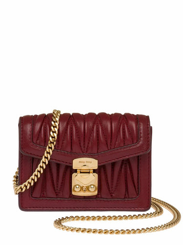 MIU MIU mini Matelasse crossbody bag