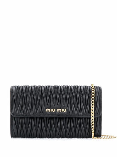 MIU MIU Matelasse wallet on chain