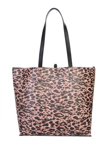 VERSACE JEANS COUTURE Leopard print tote bag