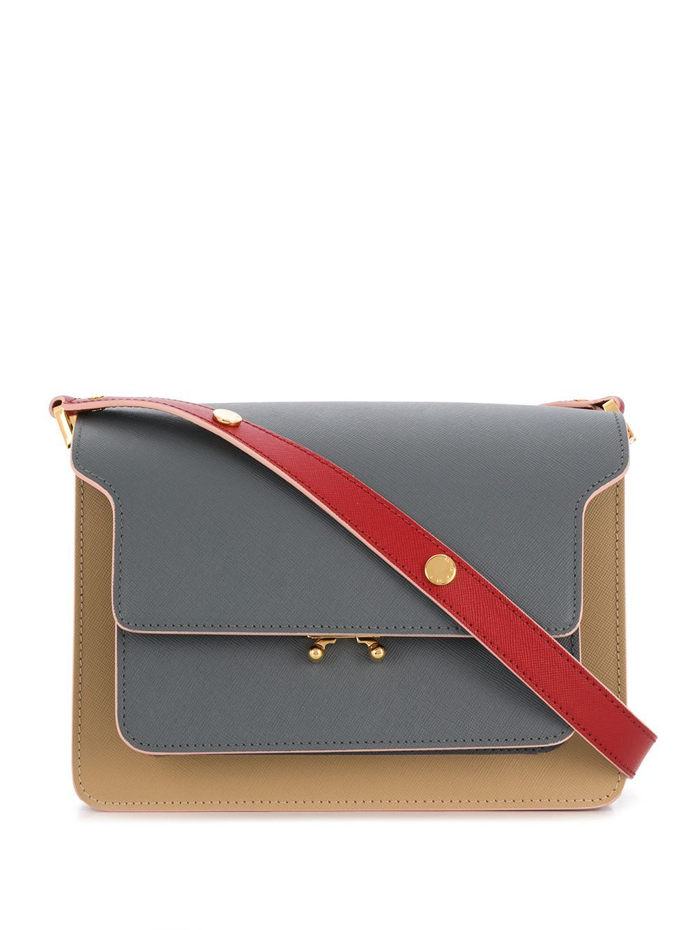MARNI Trunk two-tone shoulder bag