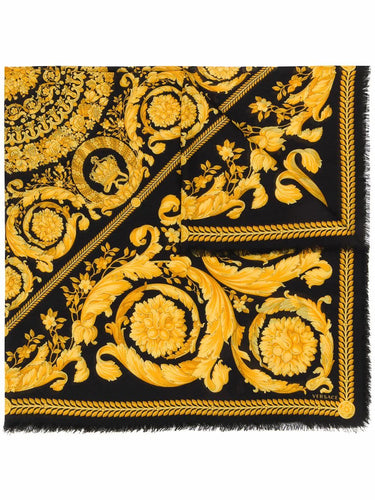 VERSACE large Baroque print scarf