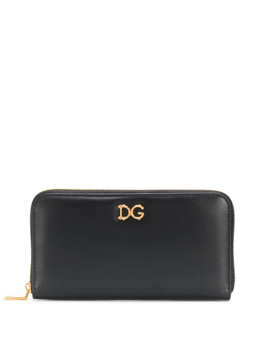 DOLCE & GABBANA baroque logo zip-around wallet