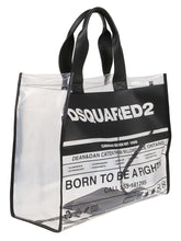 Load image into Gallery viewer, DSQUARED2 newspaper print pvc tote