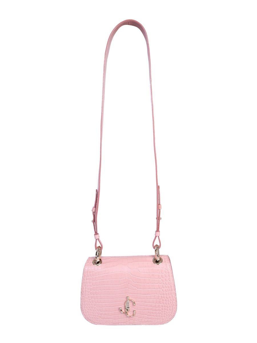 JIMMY CHOO Varenne croc embossed crossbody bag
