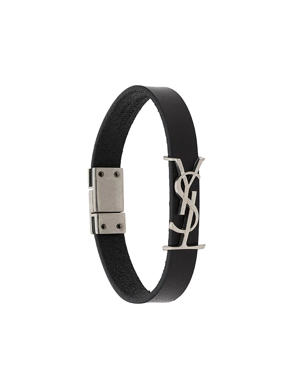 SAINT LAURENT logo-plaque buckled bracelet