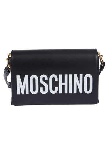 MOSCHINO logo flap shoulder bag