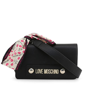 Love Moschino minimalist logo clutch bag