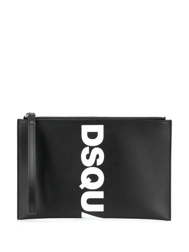 DSQUARED2logo print clutch