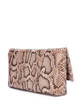 Load image into Gallery viewer, VERSACE snakeskin Virtus logo clutch