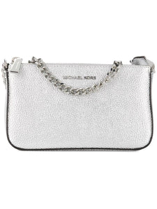 MICHAEL KORS logo plaque clutch bag