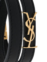 Load image into Gallery viewer, SAINT LAURENT logo plaque wrap around bracelet