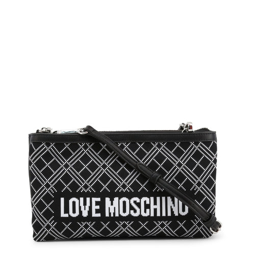 Love Moschino Intarsia knit clutch bag