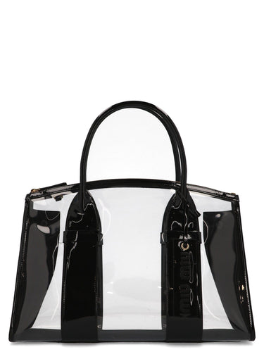 MIU MIU Plexiglass tote bag