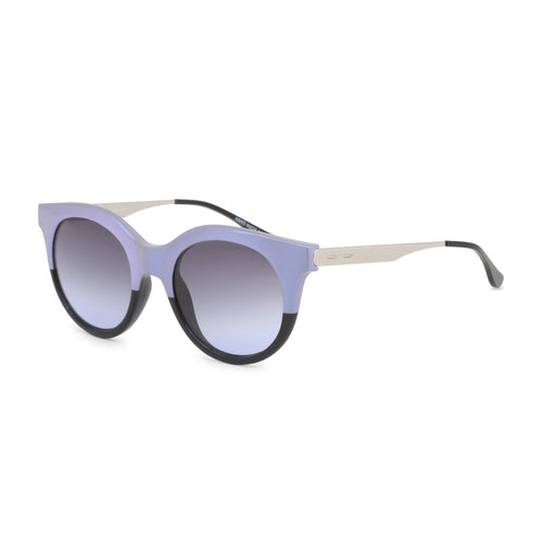 Italia Independent - Two-tone round frame sunglasses