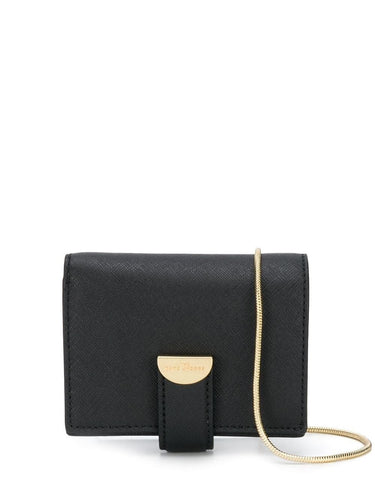MARC JACOBS logo plaque wallet on chain