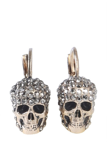 ALEXANDER MCQUEEN crystal embellished skull earrings