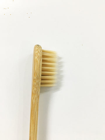 Set Of 2 Bamboo Fiber Bristles and Handle Toothbrush in Soft