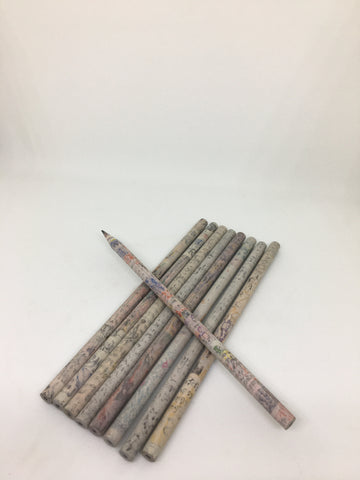 Set Of 10 Pencils Made From Waste Paper