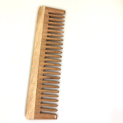 Unisex, Eco-Friendly And Natural Neem Comb In Large Size Wide Teeth