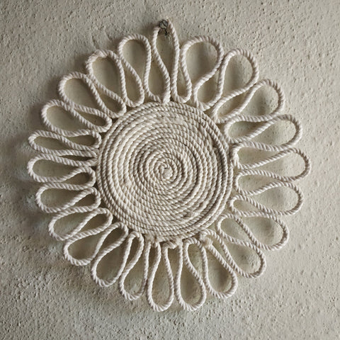 Mandala Placemats Made With Cotton Macrame