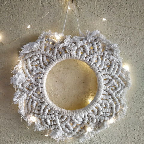 Circle Shape Cotton Macramé mandala wall hanging