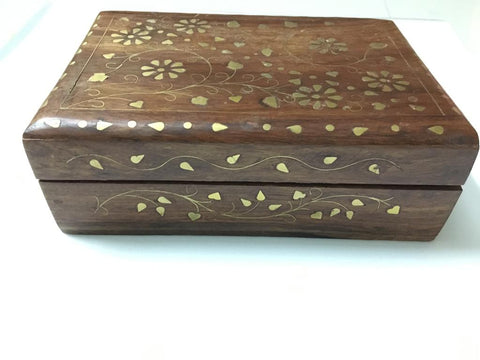 Handicraft Sheesham Wood Handmade Flower Design Jewelry Box