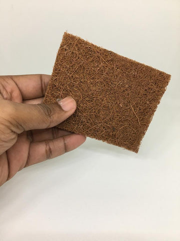 SET OF 5 - ECO-FRIENDLY COCONUT COIR DISH WASH SCRUBBER - RECTANGLE SHAPE