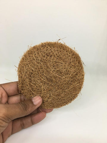 SET OF 5 - ECO-FRIENDLY COCONUT COIR DISH WASH SCRUBBER - CIRCLE SHAPE