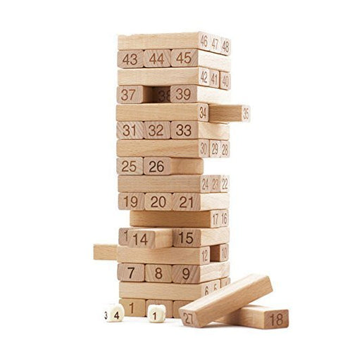 Jenga Number Board Game For All Ages