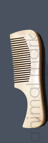 Unisex, Eco-Friendly And Natural Bamboo Comb In Small Size With Handle