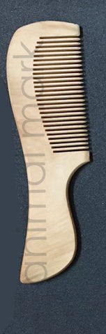 Unisex, Eco-Friendly And Natural Bamboo Comb In Large Size With Handle