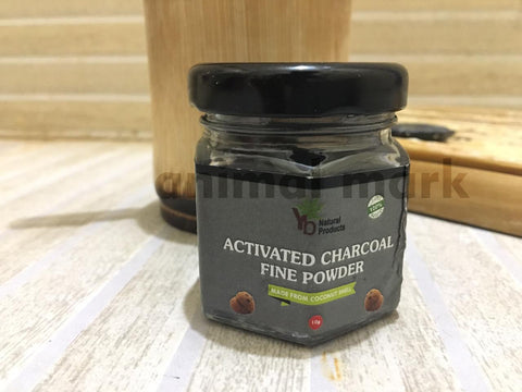 Set of 3 Natural Coconut Shell Activated Charcoal Powder for Teeth Whitening/ Face Mask