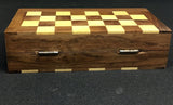 Foldable 6 Inch Rosewood Chessboard Game