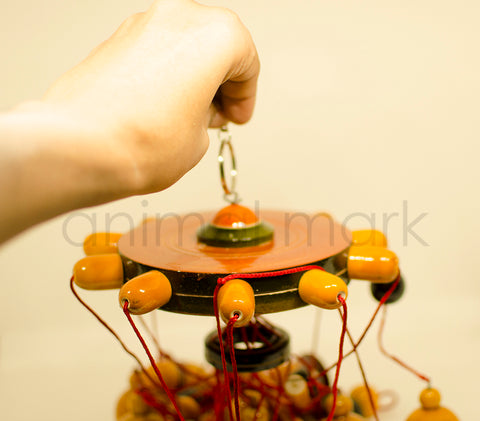 Traditional Toys - Hanging Decor With Bell And Bird