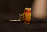Bamboo Key Chain In Tabla Shape