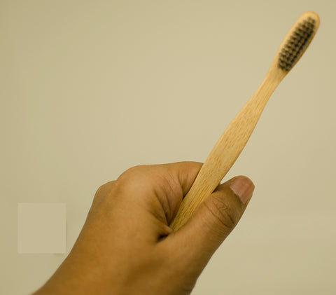 Biodegradable Premium Bamboo Binchotan Charcoal Bristles Toothbrush