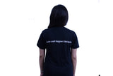 Your Place Quote - Uni Sex Round Neck -  Black - TShirt - Back View