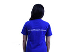 Your Place Quote - Unisex Round Neck - Navy Blue - TShirt - Back View