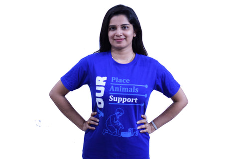 Your Place Quote - Unisex Round Neck - Navy Blue - TShirt - Front View